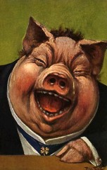 Rich pig laughing 18small
